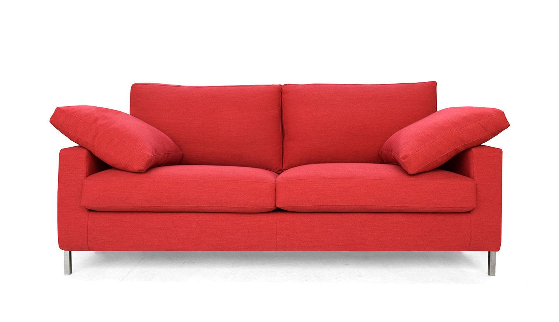 divano 3 posti colore rosso