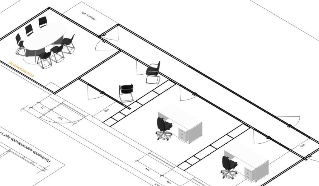 Progettazione ufficio e sala riunione